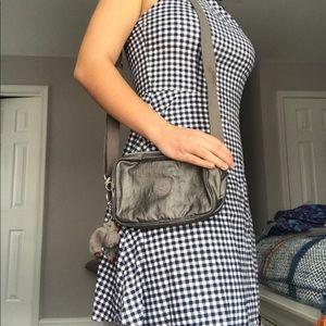 Kipling grey/silver small crossbody mini bag